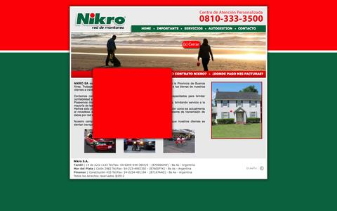 Screenshot of Home Page nikro.com.ar - ..:: NIKRO ::.. Red de Monitoreo - captured Oct. 7, 2014