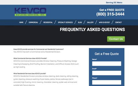 Frequently Asked Questions | KEVCO Building Services