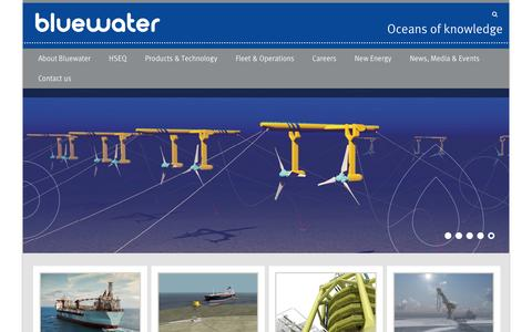 Screenshot of Home Page bluewater.com - Bluewater – Oceans of knowledge - captured Feb. 7, 2016