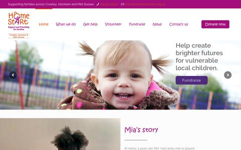 Screenshot of Home Page homestartchams.org.uk - Home Start CHAMS – Support and Friendship for Families - captured Aug. 28, 2017