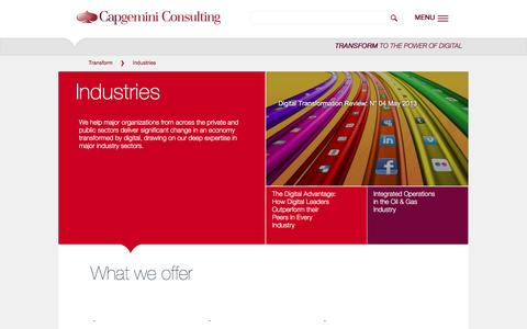 Industries | Capgemini Consulting Worldwide