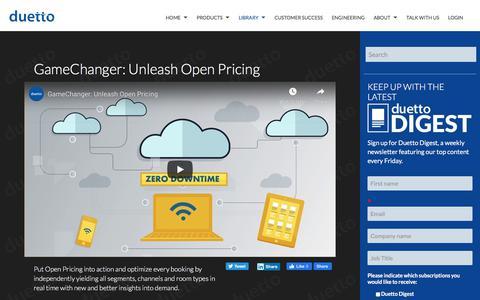 Screenshot of Pricing Page duettocloud.com - GameChanger: Unleash Open Pricing - captured Jan. 6, 2020