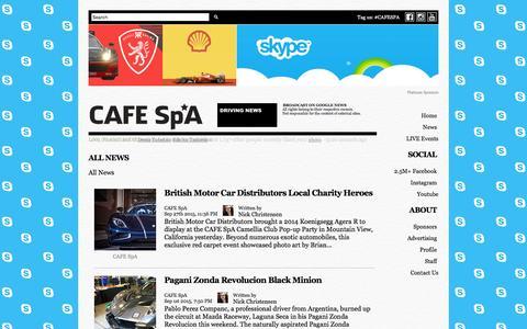 Screenshot of Press Page cafespa.com - All News - captured Dec. 14, 2015