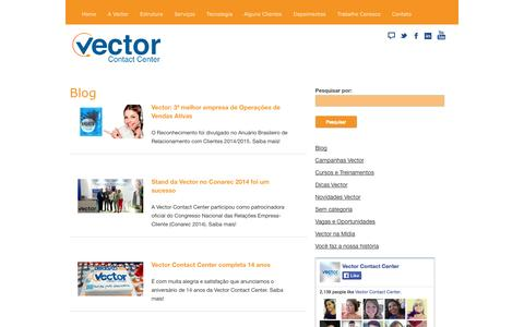 Screenshot of Blog vectorcontactcenter.com.br - Blog | Empresa de Call Center Ceará e São Paulo - Vector Contact Center - captured Sept. 26, 2014
