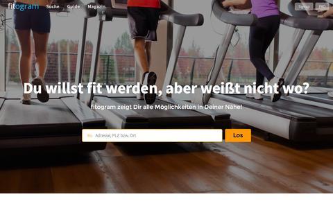 Screenshot of Home Page fitogram.ch - fitogram | Das Portal für Fitness, Wellness und Gesundheit - captured March 6, 2016
