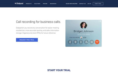 Call Recording Feature for Business Phone Calls | Dialpad