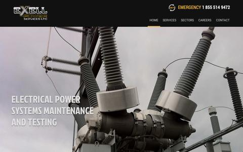Screenshot of Home Page exellpower.com - Exell Power Services Ltd. - captured Jan. 23, 2015