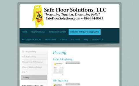 Screenshot of Pricing Page safefloorsolutions.com - Safe Floor Solutions, LLC - Pricing - captured Nov. 18, 2016