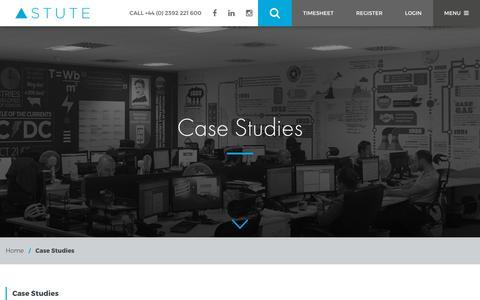 Screenshot of Case Studies Page astutetechnical.co.uk - Case Studies - Astute Technical - captured Oct. 7, 2017