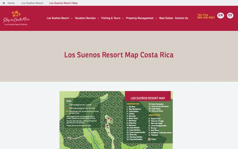 Screenshot of Maps & Directions Page stayincostarica.com - Los Suenos Resort Map   Real Estate Costa Rica - captured Sept. 21, 2018
