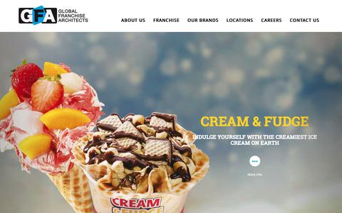 Screenshot of Home Page gfacorp.com - Global Franchise Architects - Builders, Operators and Franchisors of Specialty Retail Brands - captured Sept. 28, 2018
