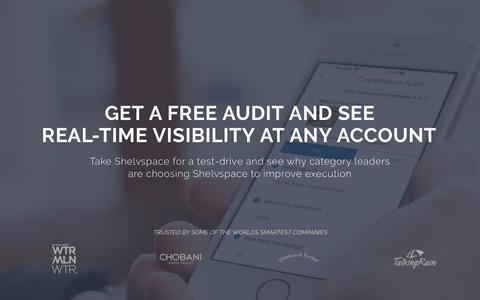 Screenshot of Landing Page shelvspace.com - Shelvspace - Free Store Audit - captured Aug. 17, 2016