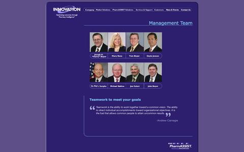 Screenshot of Team Page innovat.com - Innovation Management Team - captured Feb. 11, 2016