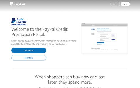 PayPal Financing | Learn More | PayPal US