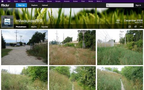 Screenshot of Flickr Page flickr.com - Flickr: milwaukeeRRF's Photostream - captured Oct. 26, 2014