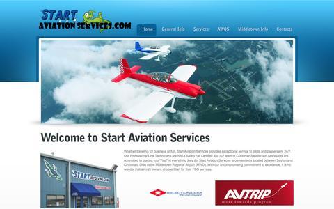 Screenshot of Home Page startaviationservices.com - Start Aviation Services - captured Sept. 30, 2014