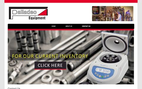 Screenshot of Contact Page palladeoequipment.com - Contact Us | Counter Depth Freezers And Refrigerators | Ge Profile Viking Wolf Appliances | Bio-reactor Pressure Tank | Industrial Lab Equipment - captured Oct. 1, 2014