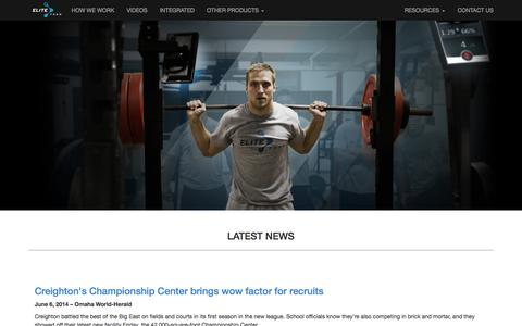 Screenshot of Press Page eliteform.com - EliteForm - Finish Stronger - captured Sept. 16, 2014