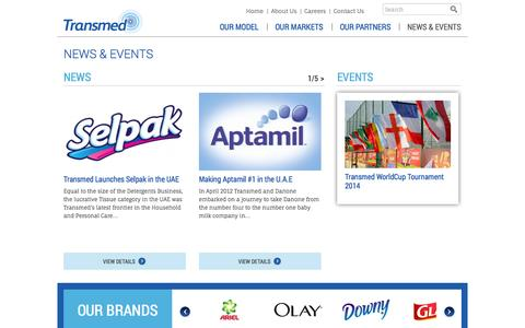 Screenshot of Press Page transmed.com - Transmed - News & Events - captured Oct. 7, 2014