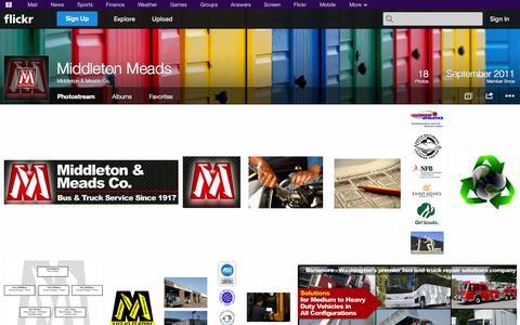 Screenshot of Flickr Page flickr.com - Flickr: Middleton & Meads Co.'s Photostream - captured Oct. 27, 2014
