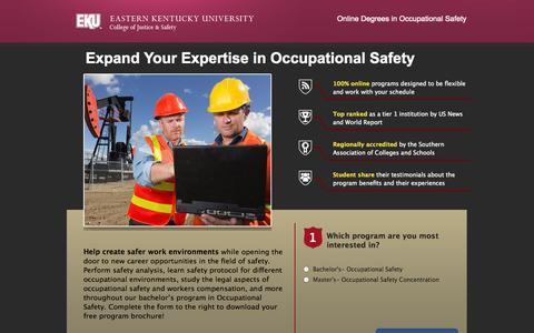 Screenshot of Landing Page eku.edu - lp-short-combo - captured Oct. 27, 2014