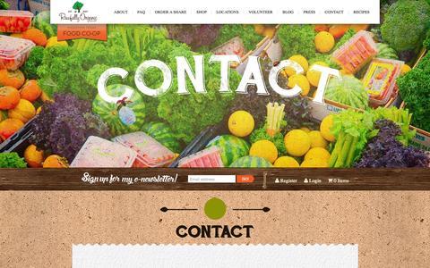Screenshot of Contact Page rawfullyorganic.com - Contact | Rawfully Organic - captured Nov. 23, 2015