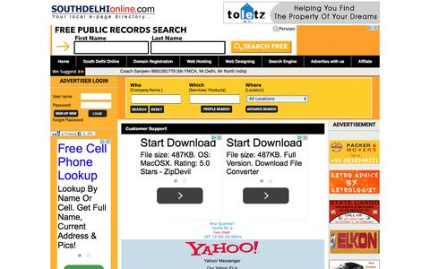 Screenshot of Support Page southdelhionline.com - South Delhi Online, Delhi Yellow Pages, yellow pages, Delhi Local Yellow Pages, Cheap Web Hosting south delhi, Domain Registration south delhi, WebGhar Technologies Private Limited - captured March 3, 2016
