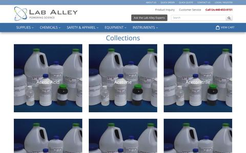 Screenshot of Site Map Page laballey.com - Collections                      – Lab Alley - captured July 15, 2018