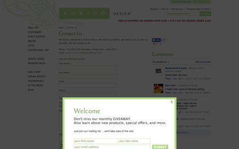 Screenshot of Contact Page sakinadesign.com - Contact Us ‹ Sakina Design - captured Sept. 24, 2014
