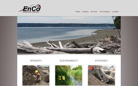 Screenshot of Home Page encoec.com - Enco Environmental Company - captured Oct. 2, 2014