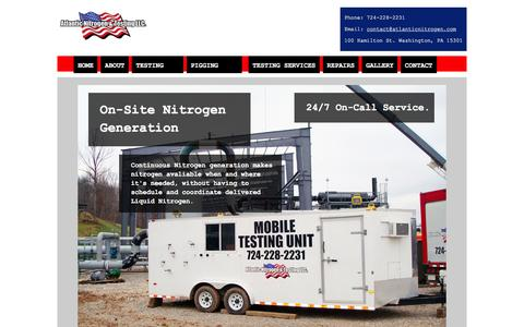 Screenshot of Home Page atlanticnitrogen.com - Atlantic Nitrogen - captured Feb. 6, 2016