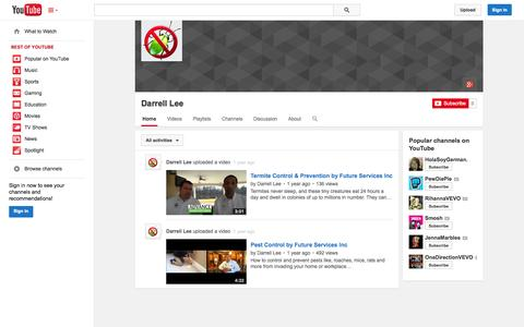 Screenshot of YouTube Page youtube.com - Darrell Lee  - YouTube - captured Oct. 23, 2014
