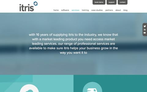 Screenshot of Services Page itris.co.uk - Services | Itris | Itec Systems | Recruitment Software - captured Oct. 6, 2014