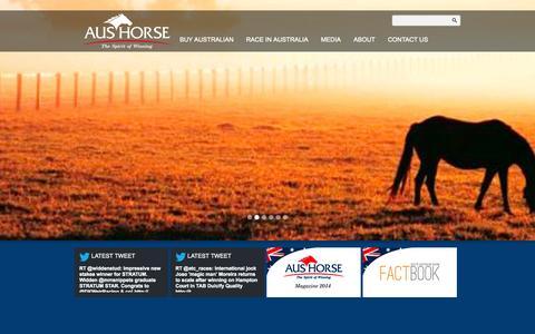 Screenshot of Home Page aushorse.net.au - Home - captured Oct. 4, 2014