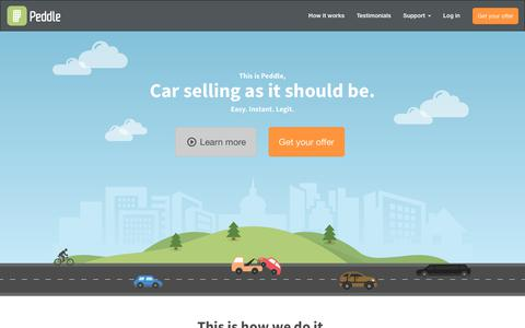 Screenshot of Testimonials Page peddle.com - Sell Your Car Instantly | Peddle - captured Aug. 17, 2018