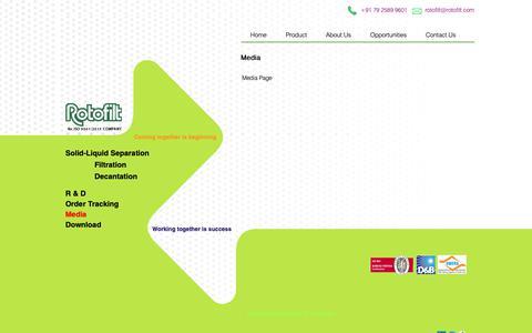 Screenshot of Press Page rotofilt.com - Media - captured Nov. 19, 2018