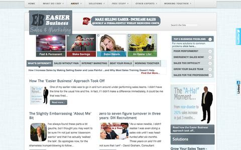 Screenshot of About Page easier-business.com - About - captured Sept. 27, 2014