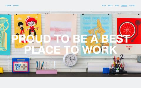 Screenshot of Jobs Page collemcvoy.com - Colle + McVoy :: Careers - captured Sept. 30, 2014