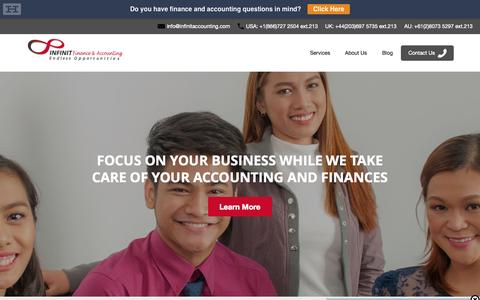 Accounting Outsourcing - CPAs & Finance Experts - Infinit Accounting