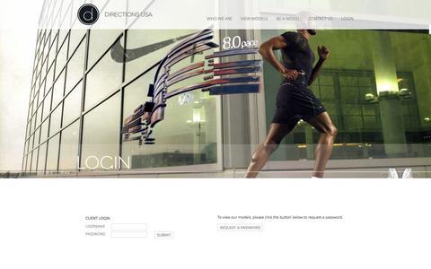 Screenshot of Login Page directionsusa.com - ~ Directions USA - login ~ - captured Sept. 30, 2014