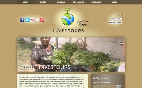 Screenshot of About Page investours.org - About Investours | Investours - captured Oct. 6, 2014