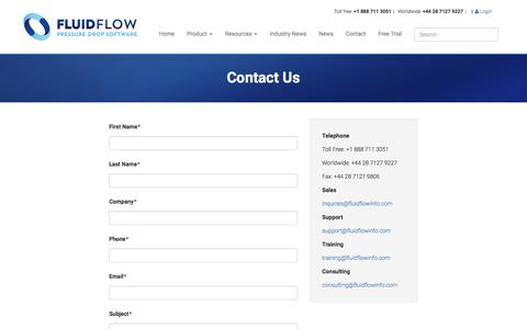 Screenshot of Contact Page fluidflowinfo.com - Contact Us | FluidFlow - captured Nov. 25, 2016