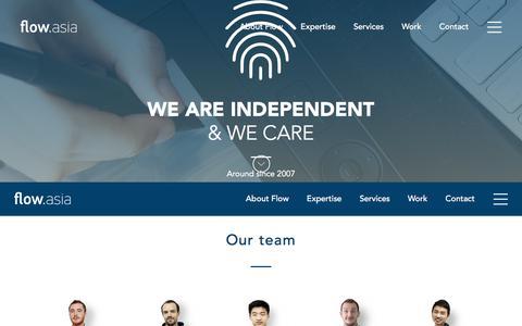 Screenshot of Team Page flow.asia - Beijing based Web Design & Development Agency | flow.asia - captured June 26, 2017