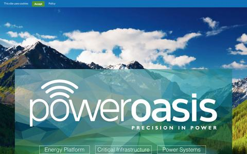 Screenshot of Home Page power-oasis.com - PowerOasis | Precision in Power - captured Feb. 21, 2016