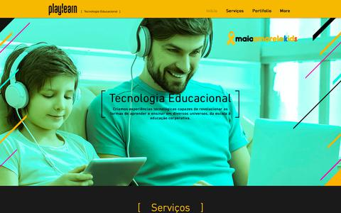 Screenshot of Home Page playlearn.com.br - playlearn - captured July 19, 2018