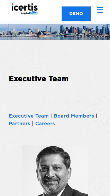 Screenshot of Team Page  icertis.com - Leadership Team, Board of Directors, Advisors | Icertis