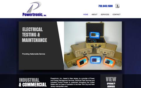 Screenshot of Home Page powertronic.com - Powertronic, Inc. Power-Energy-Electric Services - captured Oct. 2, 2014