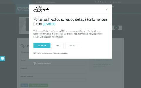 Screenshot of Signup Page gaming.dk - Gaming.dk - captured Aug. 29, 2016