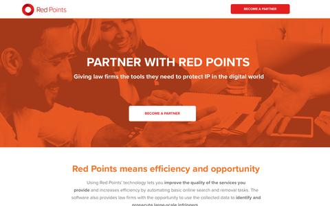 Screenshot of Landing Page redpoints.com - Partner with Red Points | Red Points Solutions - captured March 27, 2018