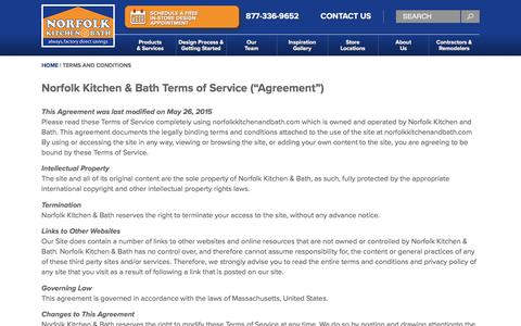 Screenshot of Terms Page norfolkkitchenandbath.com - Terms and Conditions - Norfolk Kitchen & Bath - captured Sept. 21, 2018
